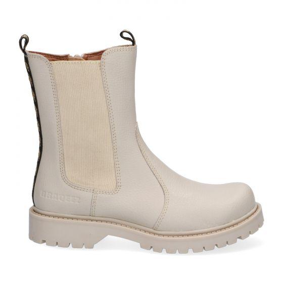 Beige Chelsea Boots met rits