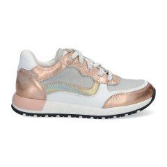 Trendy rosékleurige meisjessneakers met metallic