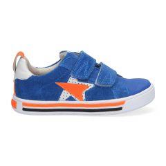 Kobalt blauwe klittenbandschoenen met ster