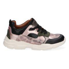 Roze meidensneakers met panterprint