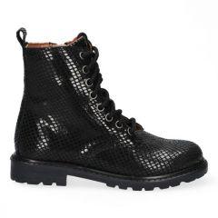 Braqeez Becky Boot - 419772 - Zwart Croco