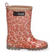 Reduce by Braqeez - 121960-570 - Roze Panter Regenlaarzen - Meisjes